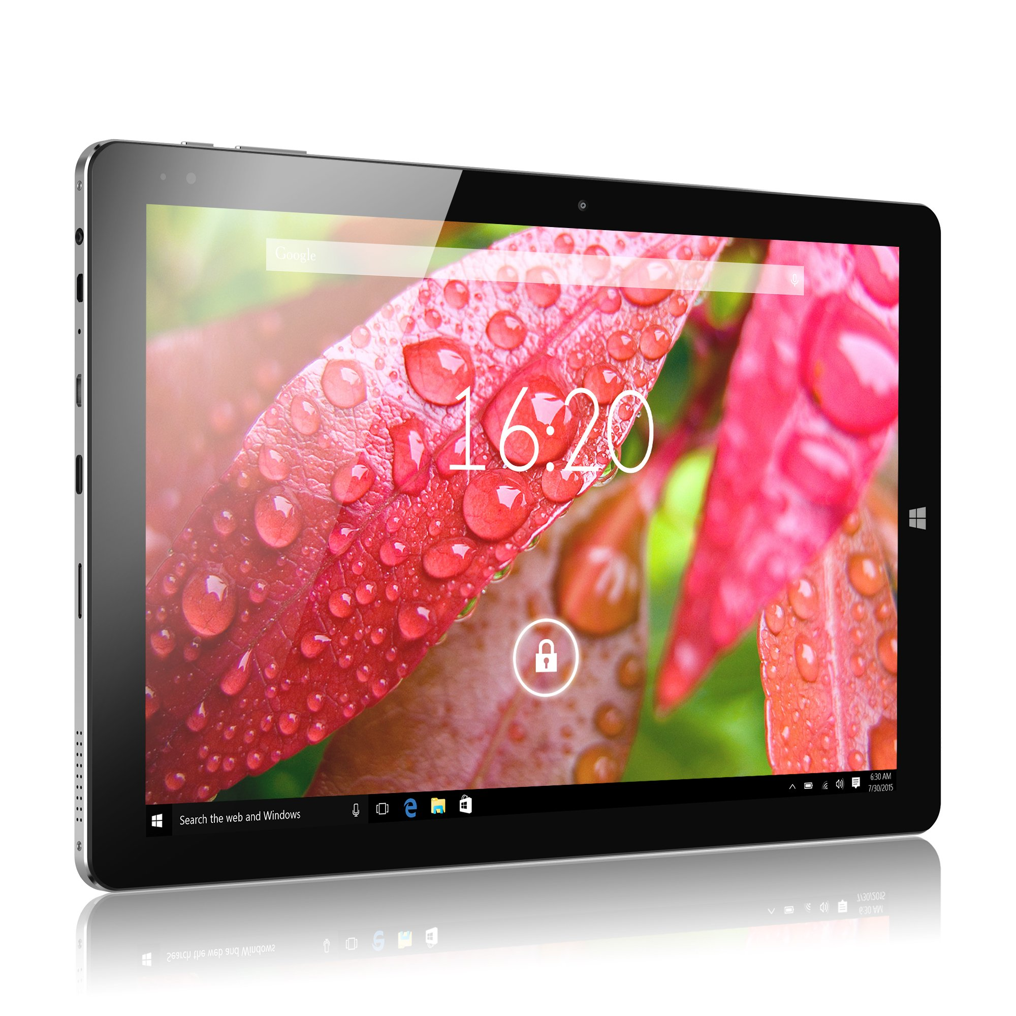 Windows Tablet, CHUWI Hi10 Plus Windows 10/Android 5.1 Dual Boot 2-in-1 Tablet PC, 10.8'' Full HD Display, featuring Intel X5 Cherry Trail Z8350 Quad Core, 4GB RAM/64GB ROM and Wifi