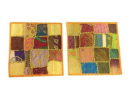 Divano Letto Patchwork : Mogul interior indiano cuscino federe patchwork ricamato divano