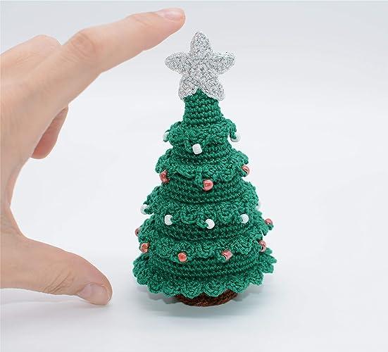 Weihnachtsbaum Geschenk Häkeln Schmuck Kleine Dekoration Grün