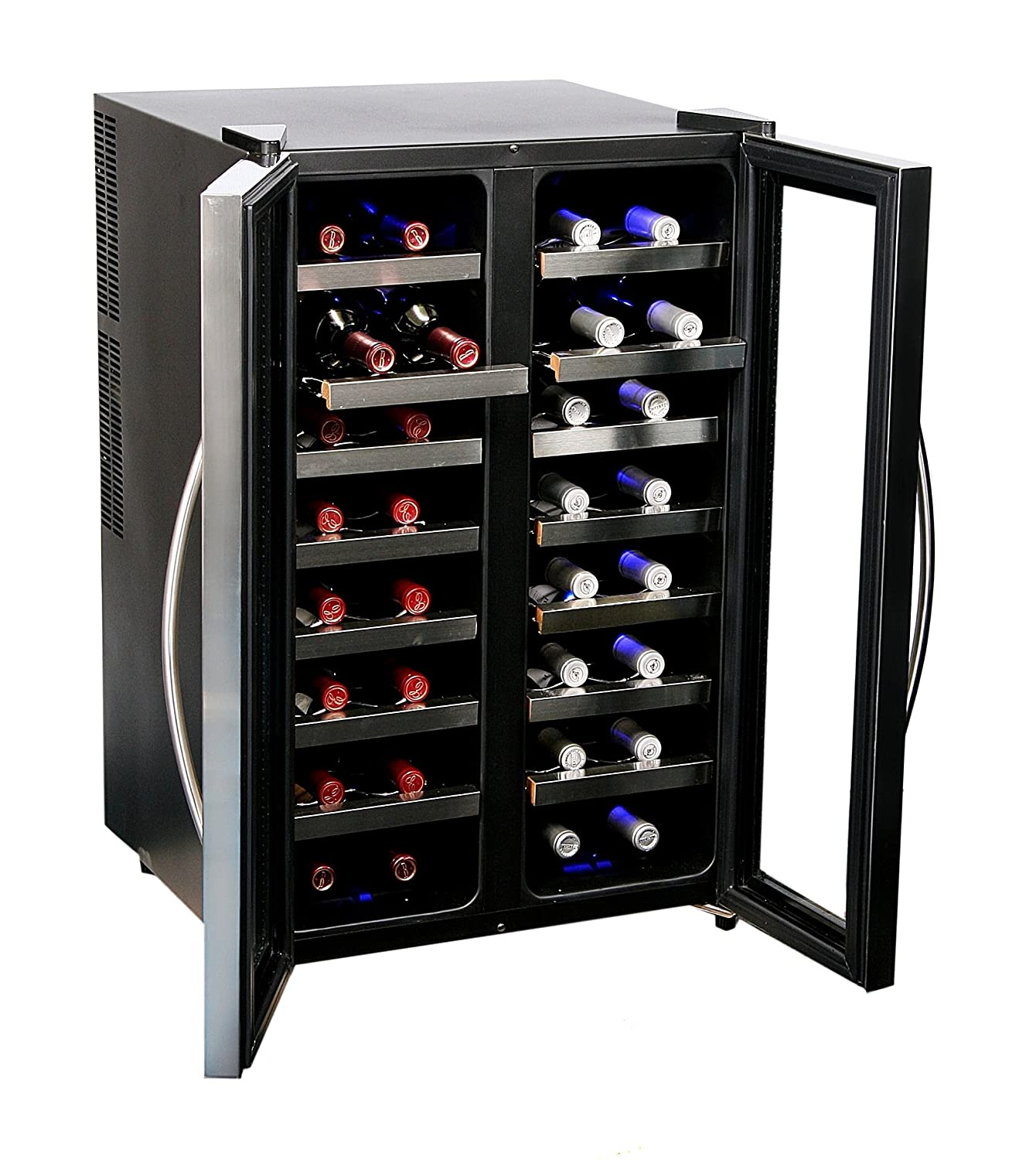 Good Amazon.com: Whynter WC 321DD 32 Bottle Dual Temperature Zone Wine Cooler,  Stainless Steel Trimmed Glass Door With Black Cabinet: Appliances