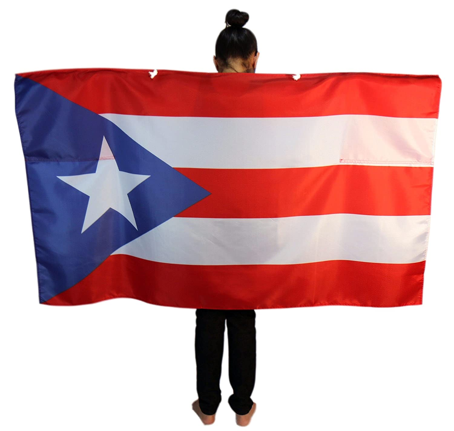 amazon com puerto rico flag cape full size wearable flag with