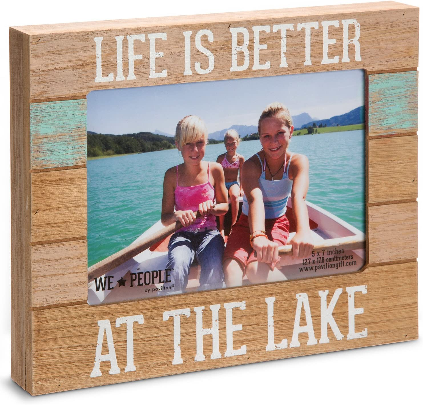 "Pavilion Gift Company 67243 We People-Life is Better at The Lake Picture Frame, 5""x7"""