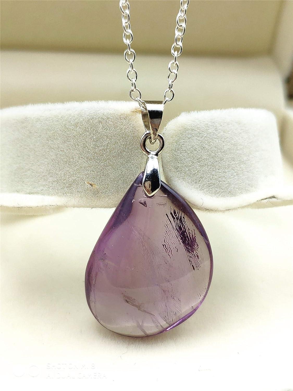 Muko Gemstone Natural Ametrine Quartz Yellow Purple Crystal Water Drop Women Rare Pendant 26x19x9mm AAAAA