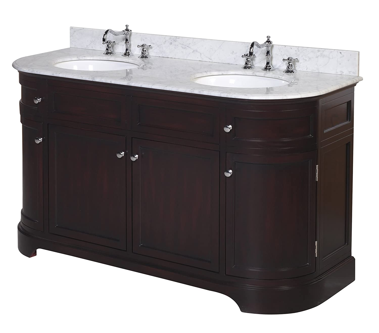 kitchen bath collection kbc0960brcarr montage double sink bathroom
