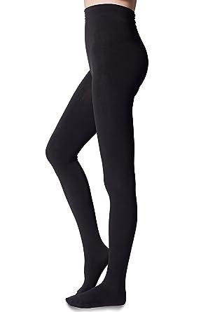 2d11afac7b3fa YIWEI Women's Fleece Lined Control Top Opaque Tights - Black ...