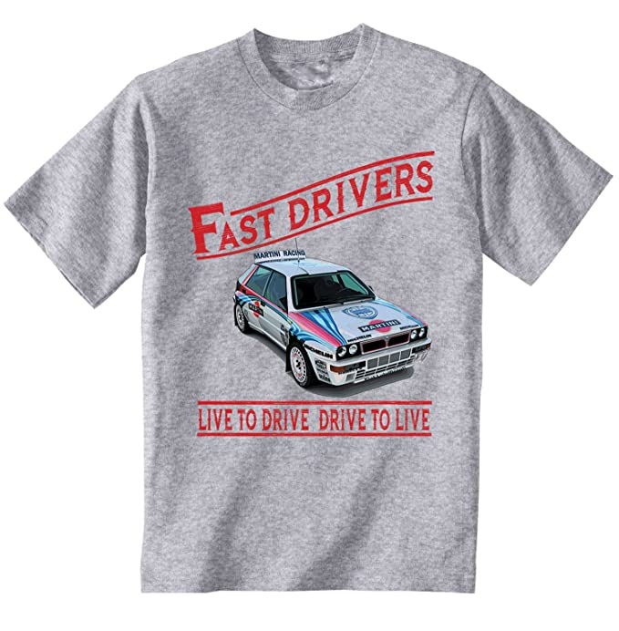 Teesandengines LANCIA DELTA RALLY FAST DRIVERS Camiseta Gris para hombre de algodon: Amazon.es: Ropa y accesorios
