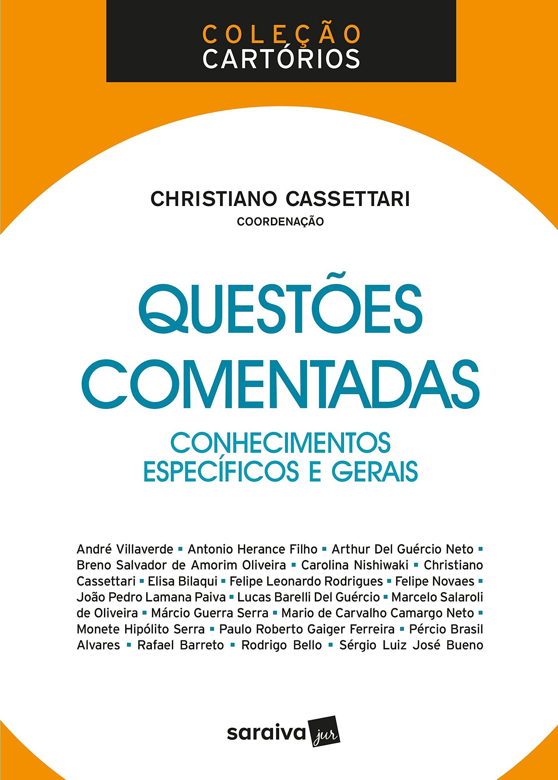 Conhecimentos Específicos e Gerais - Coleção Cartórios: Christiano Cassettari: 9788547223229: Amazon.com: Books