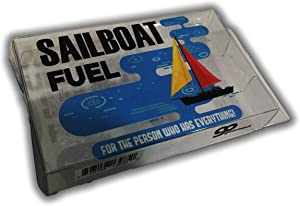 Sailboat Fuel Prank Gift Box Gag for Friends Clear Gift Box Clean Humor Novelty Gags for Family Stocking Stuffers for Spouse Kids Anniversary White Elephant Idea Secret Santa Nautical Sailing Gags