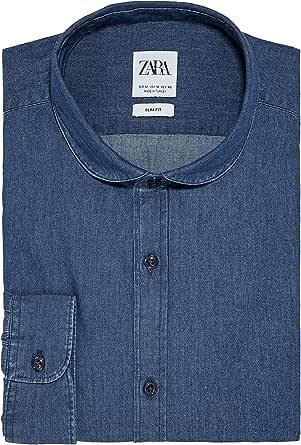Zara 7545/390 - Camiseta de Mezclilla para Hombre con Cuello ...