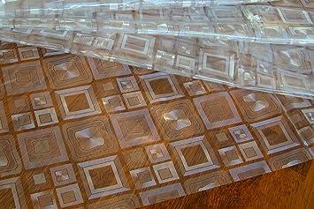 Wachstuch Tischdecke Abwaschbar Eckig 140 X 180 Cm Meterware Durchsichtig