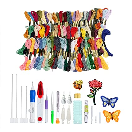Amazon Com Embroidery Pen Punch Needle Set Embroidery Patterns