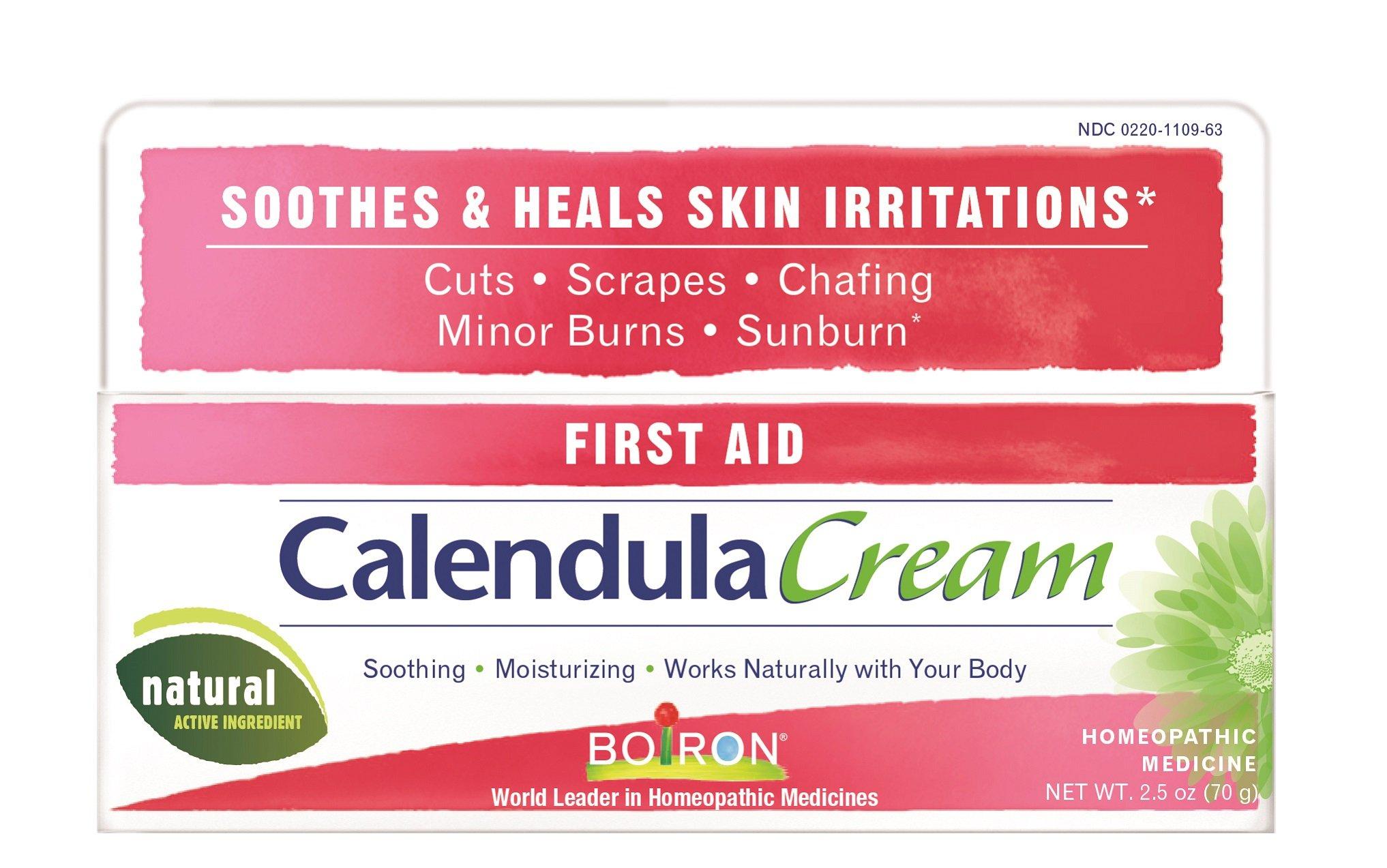 Boiron Calendula Cream, 2.5 Ounce, Homeopathic Medicine for Skin Irritation and Burns