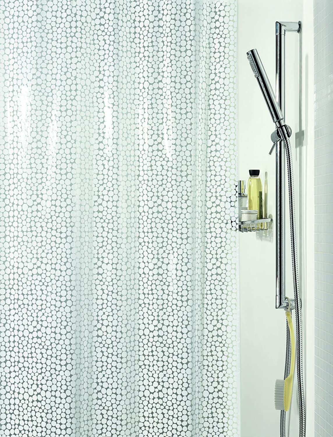 Spirella Galet PEVA Plastic Shower Curtain Opaque, 180 x 200 cm ...