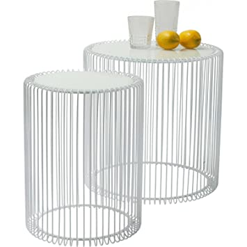 Kare side table 80180 wire white set of 2 amazon kitchen kare side table 80180 wire white set of 2 amazon kitchen home greentooth Images