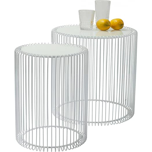 Kare side table 80180 wire white set of 2 amazon kitchen kare side table 80180 wire white set of 2 greentooth Choice Image