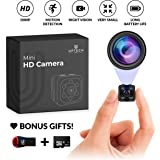 Small Hidden Mini Spy Camera - Secret Tiny Spy Cam for Home or Car with Motion Detection, Night Vision, Video, Micro…
