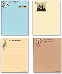 Funny Office Nopteads Assorted Packs - 4 Novelty Notepads - Funny Office Supplies (4) (To Do Lists #3)