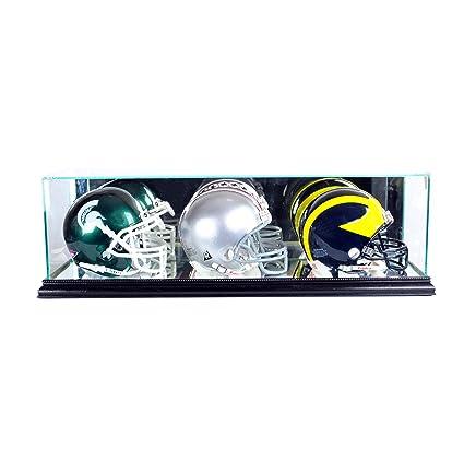 1ad517c3 Perfect Cases NFL Triple Mini Football Helmet Glass Display Case
