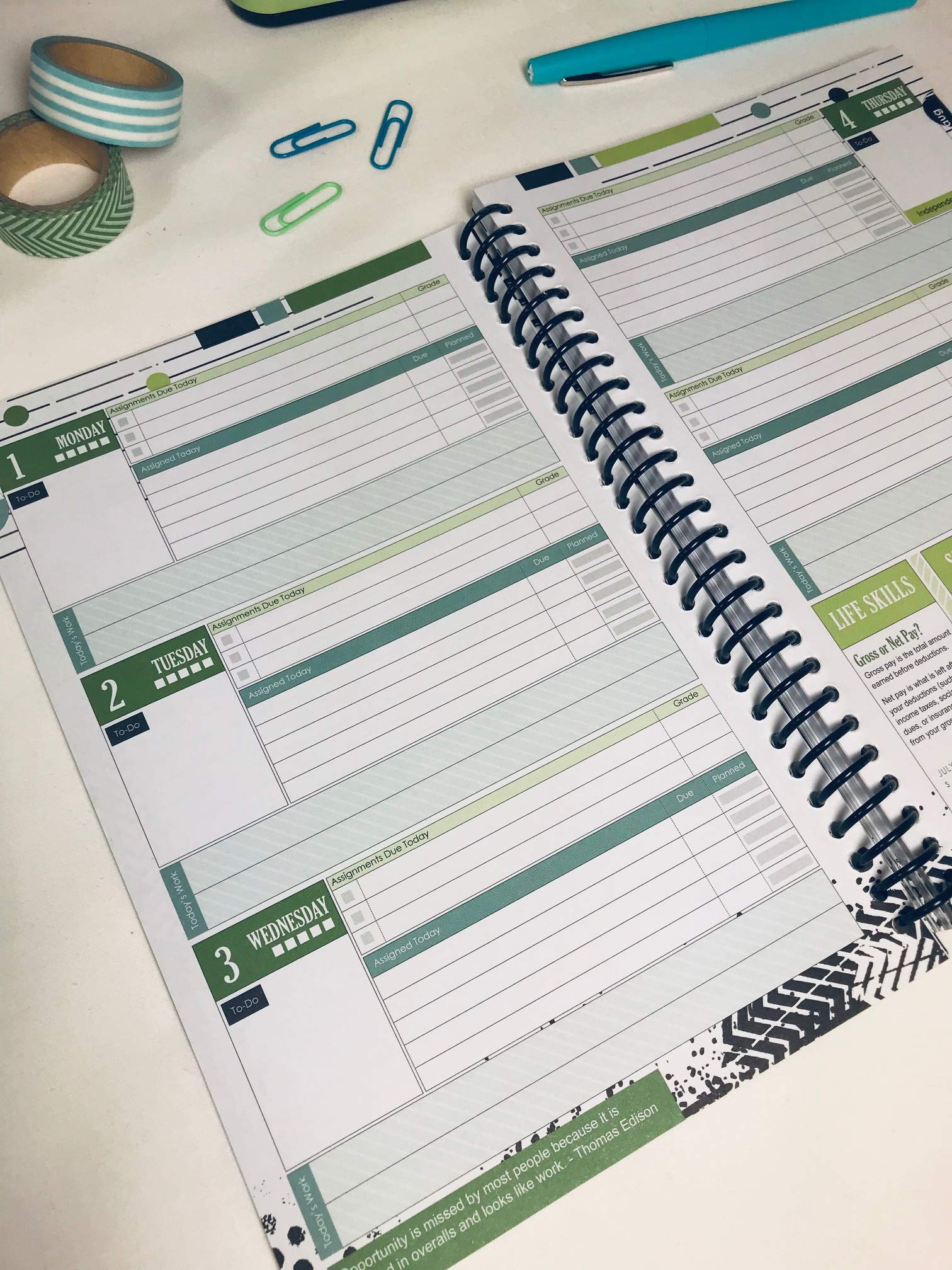 Well Planned Day, College Planner, Linear July 2019 - June ...
