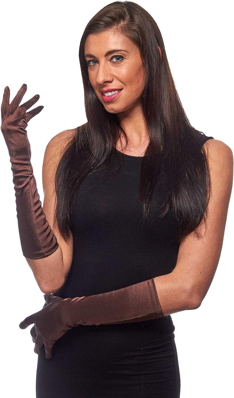 "Elbow Length 15"" Satin Gloves"