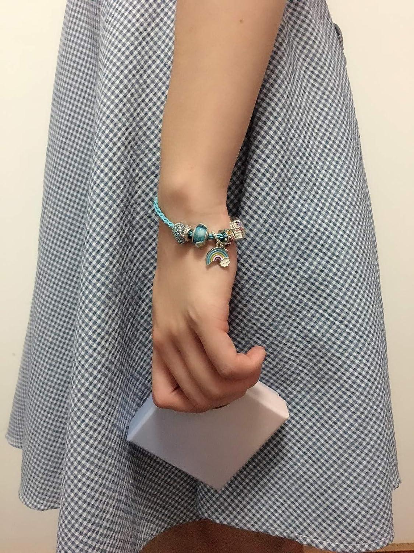 7 Birthday Rainbow Charm Bracelet Jewelry Gift