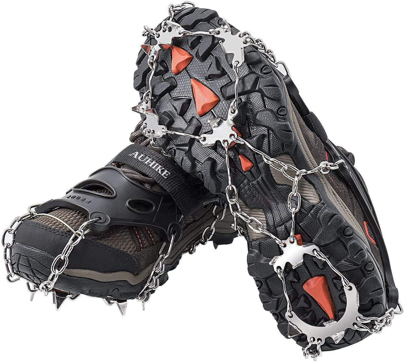 Ville Goujons Crampons Antid/érapants Caoutchouc en Acier Inoxydable ZEYUE Crampons pour Chaussures /À Ressort Escalade Crampons en Silicone Antid/érapants Randonn/ée