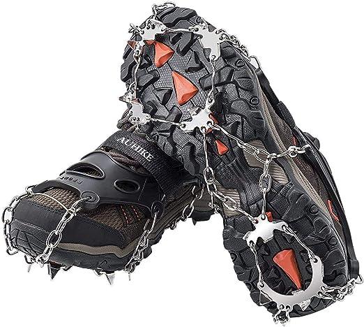 Les Randonn/ées et la Marche en Hiver,Protection Antiglisse Crampons Antid/érapants MZSM Glace Traction Crampons Antid/érapant Chaussures//Bottes 10 Clous Neige Grips Crampons Pointes 1 Pair