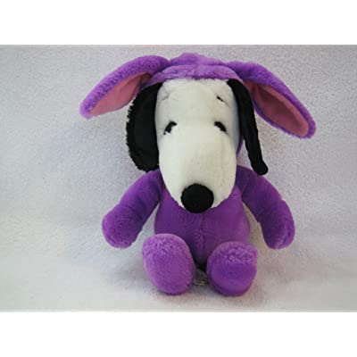 "Peanuts Plush 11"" Easter Snoopy in Purple Bunny Suit: Toys & Games"