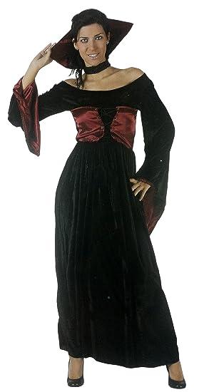 Desconocido Disfraz de vampiresa para mujer| ideal para Halloween ...