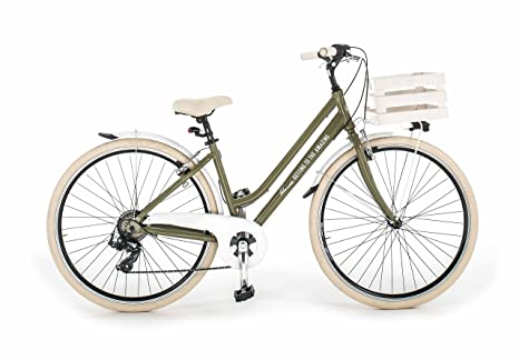 Bicicletta Milano Donna Made In Italy Via Veneto Verde Oasi