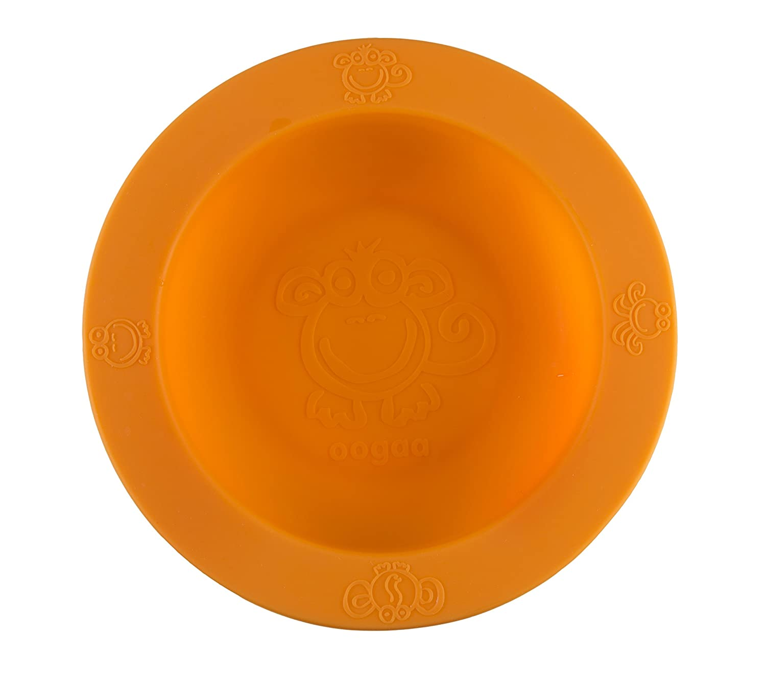 100% Silicone Bowl. Non-Toxic, Oven Safe! Baby's First Bowl, Orange