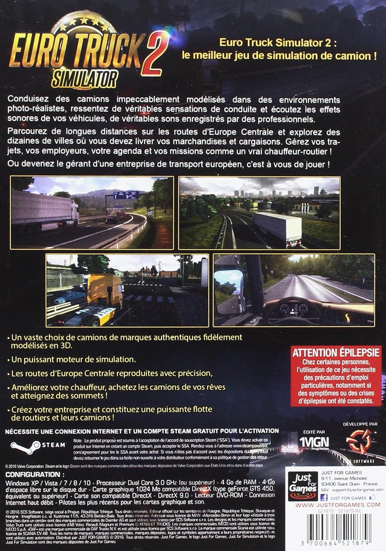 Just for Games Euro Truck 2 Simulator Standard Básico PC Inglés, Francés vídeo - Juego (PC, Simulación): Amazon.es: Videojuegos