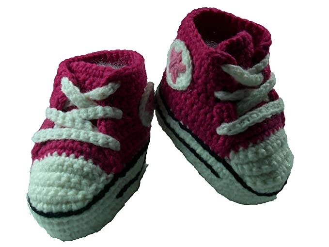 e938ed8f52b7a Amazon.com: Baby Shoes Handmade Tennis Shoes Size 6 to 12 MO ...
