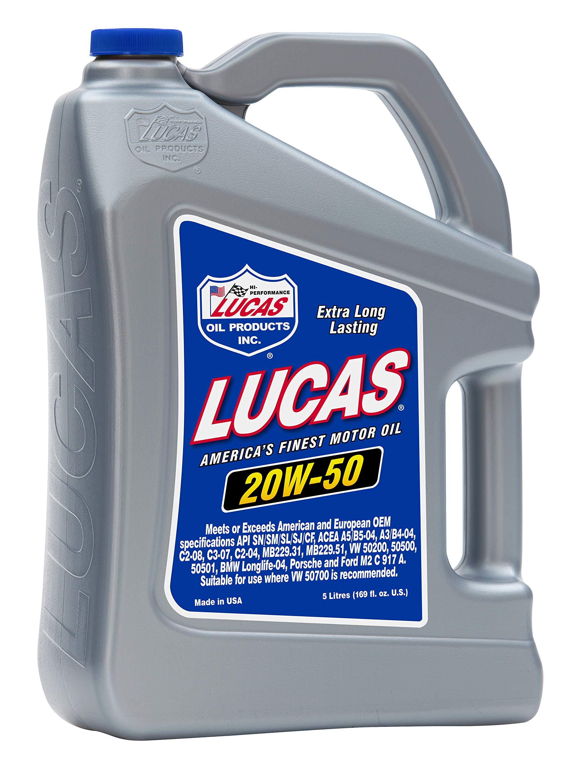 Lucas Oil 10255 SAE 20w-50 Motor Oil-5L