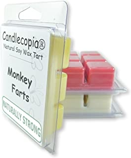 product image for Candlecopia Monkey Farts, Butt Naked and Bite Me Strongly Scented Hand Poured Vegan Wax Melts, 18 Scented Wax Cubes, 9.6 Ounces in 3 x 6-Packs