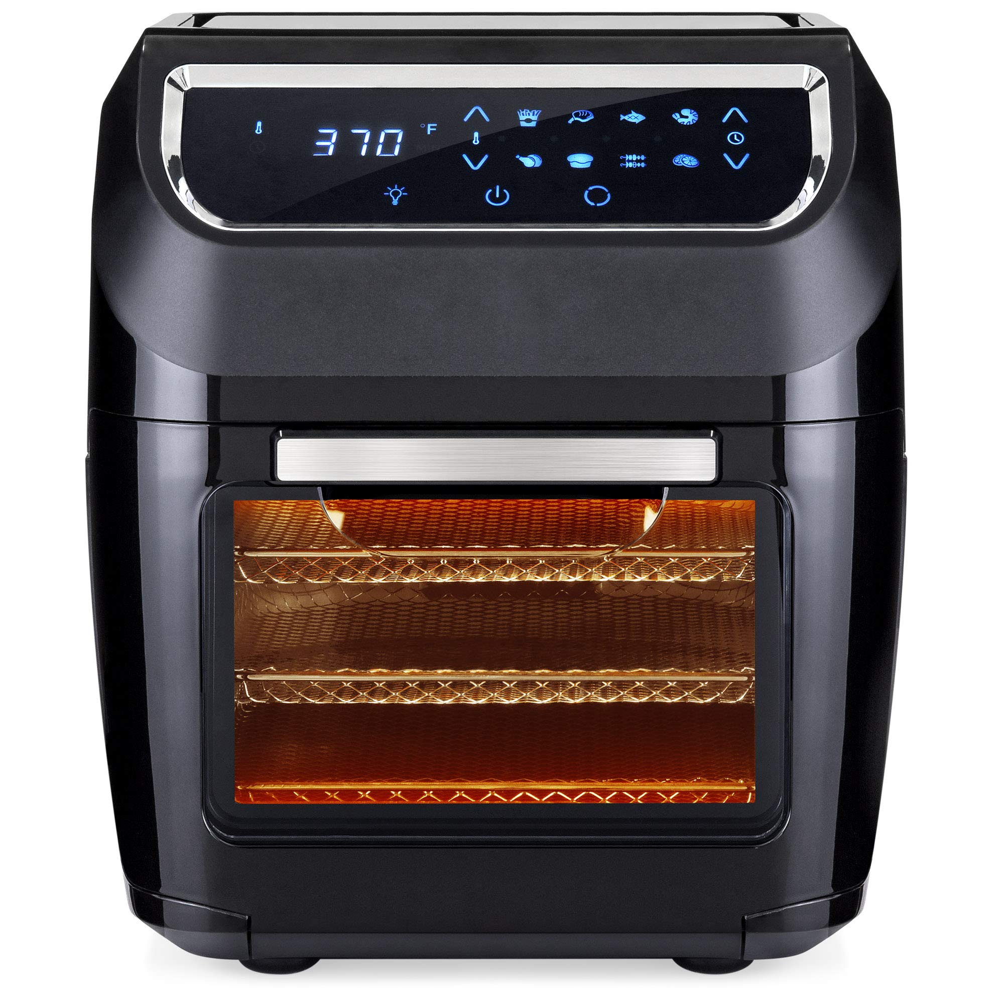 Best Choice Products 11.6qt 1700W 8-in-1 Electric XL Air Fryer Oven, Rotisserie, Dehydrator Kitchen Cooking Set w/ 8 Accessories, LED Touchscreen, Removable Door, Viewing Window, Overheat Protection by Best Choice Products