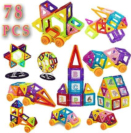 36+16 pcs 3D Set Magnetic Tiles Construction Building Blocks Fancy Kids Toys New