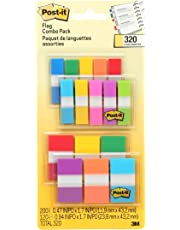 "Post-it Flags Value Pack, .5"" x 1"" & 1"" x 1.7"", 320 Flags with 4 Dispensers, Assorted Colours"