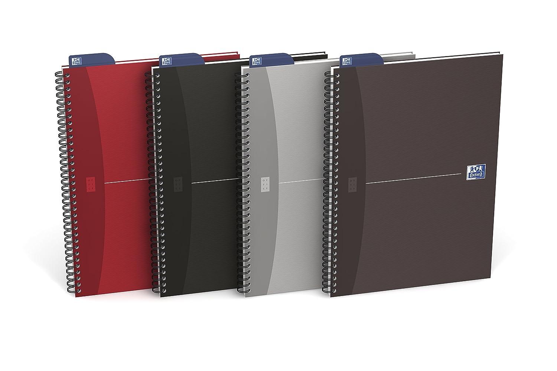 Oxford Essentials–Set di 5–Quaderno a quadretti piccoli, colori assortiti quadretti piccoli 5x5 A5+ Colori assortiti Hamelin Brands 100101721