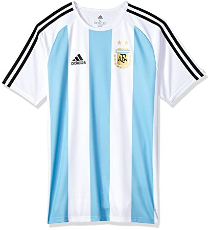 c5344dc74b7 adidas World Cup Soccer Argentina Men's Soccer Argentina Home Fanshirt,  X-Small, White