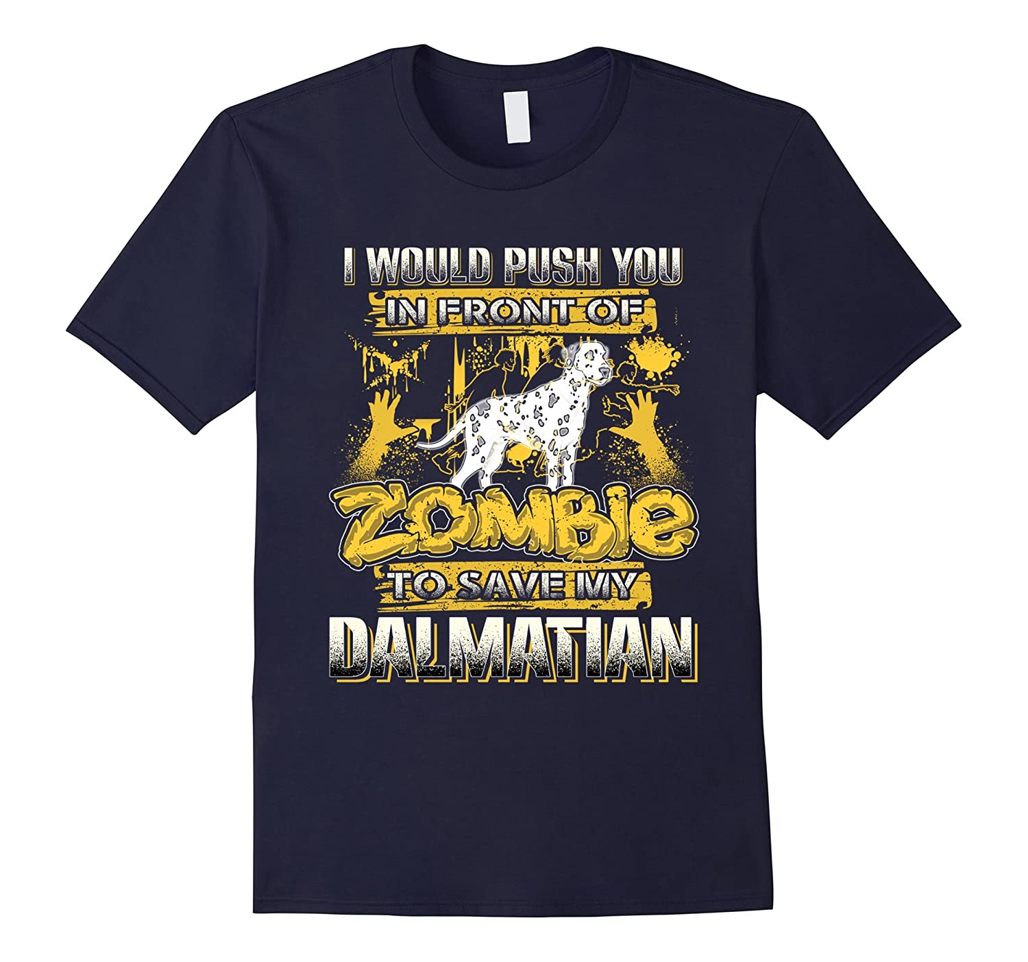 My Dalmatian And Zombie Funny Tshirt-TH
