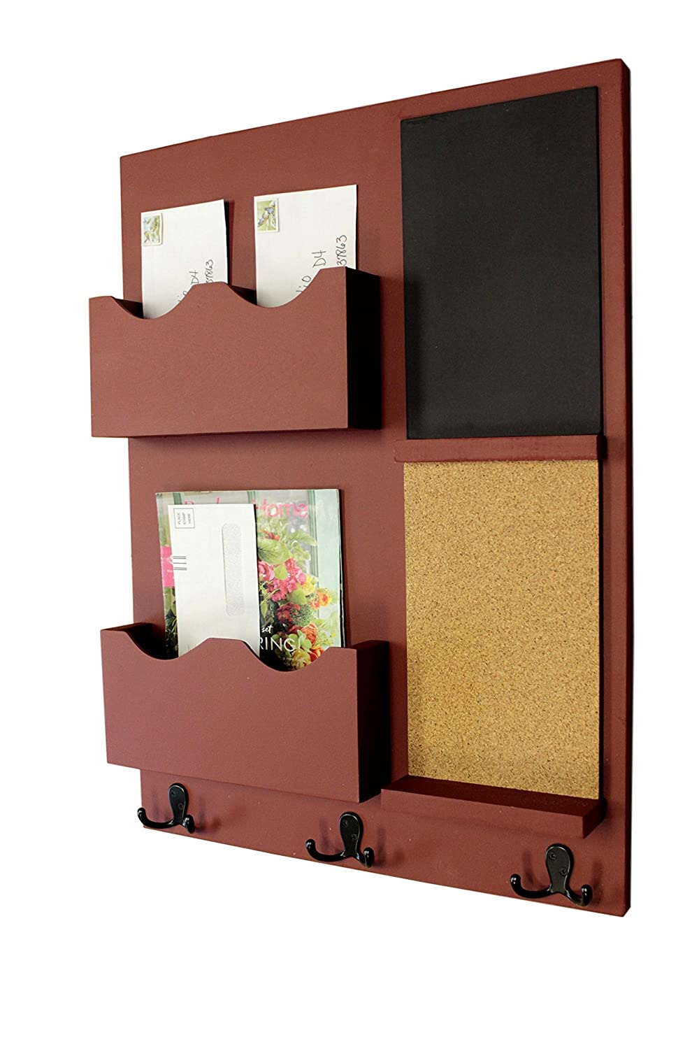 Amazon.com: Legacy Studio Decor Mail Organizer Cork Board ...