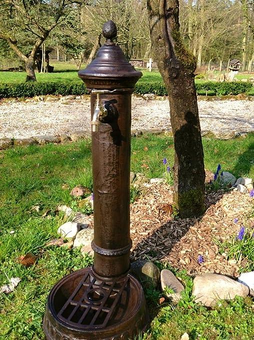 Antikas - Fuente Hierro Fundido - Fuente Jardin de Exterior con Grifo de latón - Fuentes: Amazon.es: Jardín