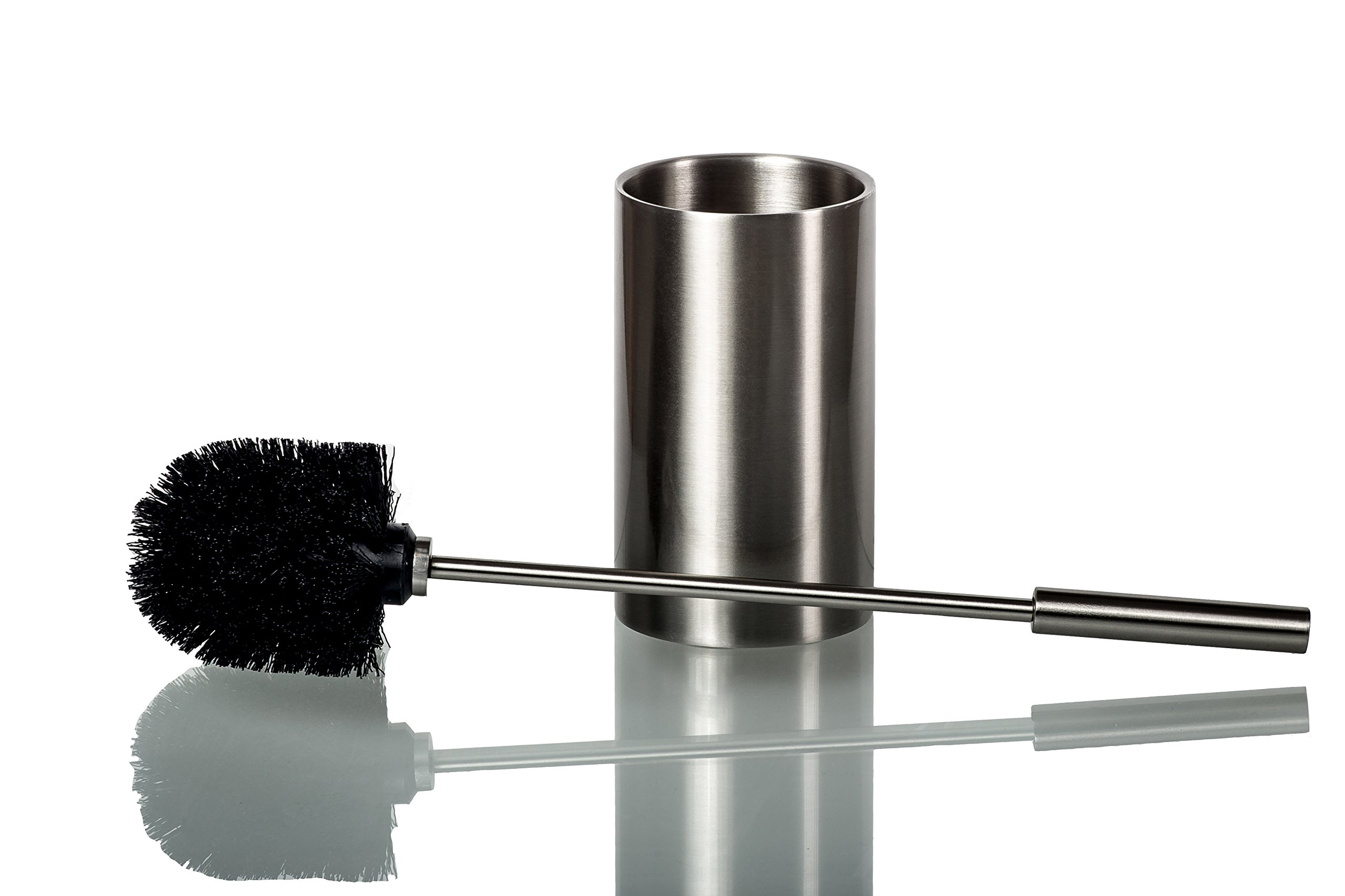 Deluxe Toilet Brush with Holder – Premium Quality Stainless Steel Toilet Brush – Elegant and Modern Design – Ergonomic and Practical Handle – Durable Brush Bristles – Hygienic Double-Wall Holder