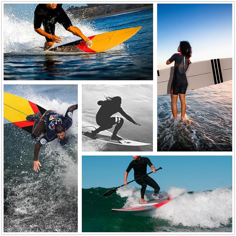 NONMON 8 Correa Surf Leash, Correa Tobillo Sup, Ligero, Perfecto para Todo Tipo de Tablas de Surf, 7mm de Espesor, Transparente+Negro: Amazon.es: Deportes ...