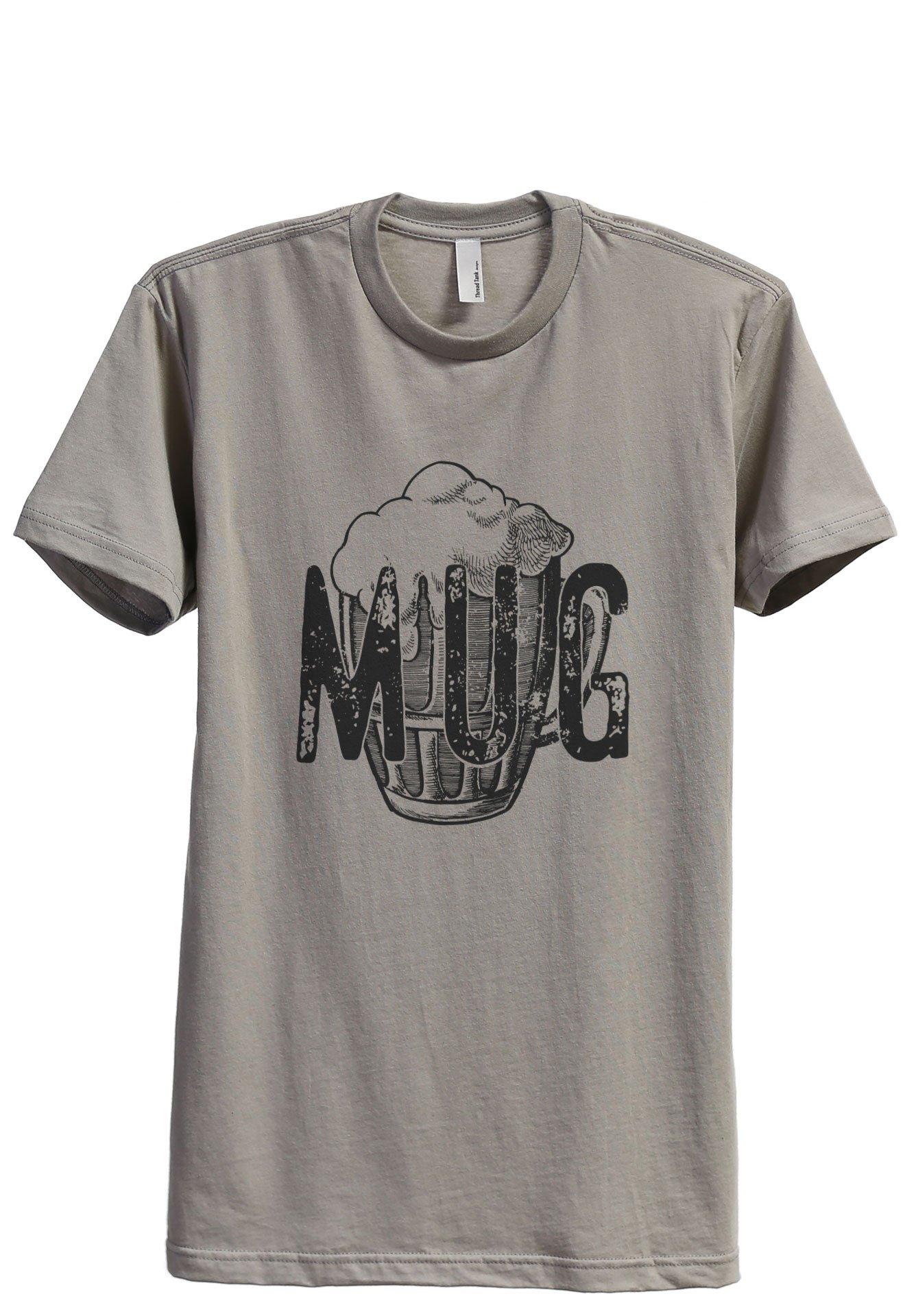 Thread Tank Mug Glass Sketch Men's Modern Fit T-Shirt Printed Graphic Tee Military Grey Large