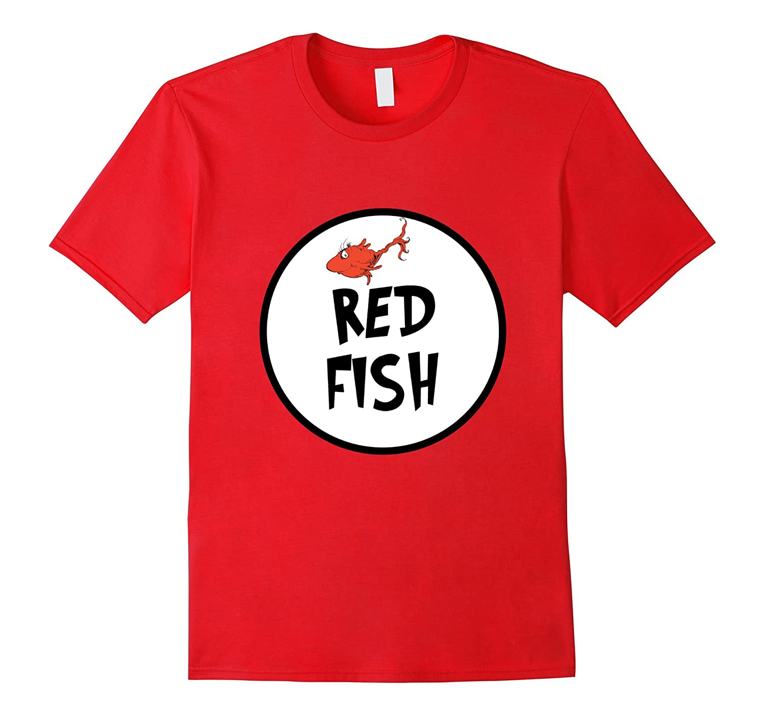 Cute Rhyming Red Fish T-shirt | Group Matching Costume-AZP