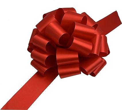 Cinta Roja Grande Para Moños Para Regalos De Navidad 9 De Ancho Conjunto De 6 Abcd Rojo 6 Health Personal Care