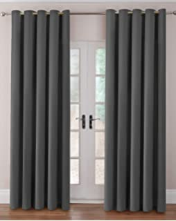 "Jazz Ready Made Eyelet Curtains 90"" x 84"" - Linen: Amazon.co.uk ..."