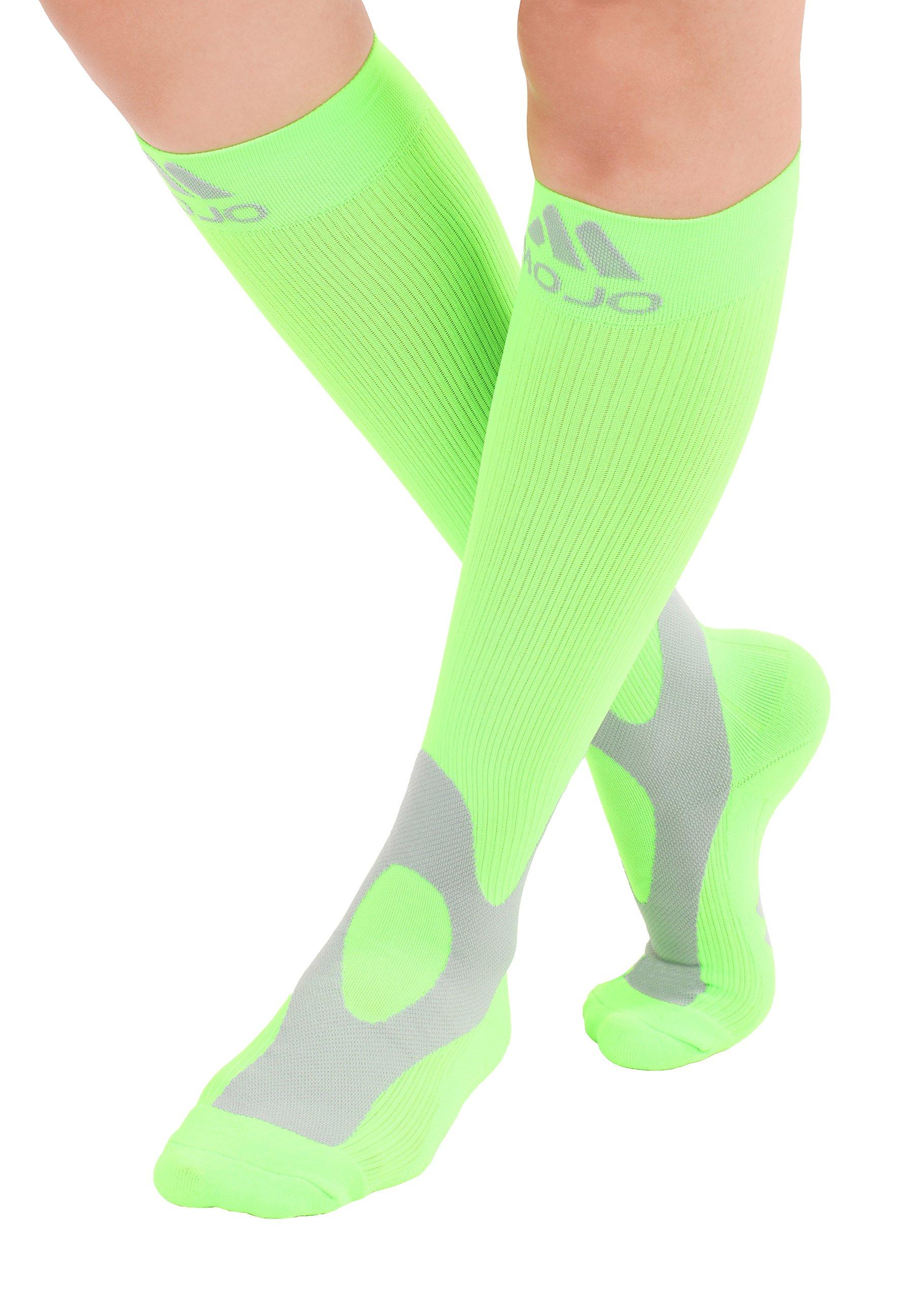 2b6148dabe Amazon.com: XXL Mojo Neon Green Compression Socks 20-30mmHg - Extra ...